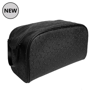 Shane X Jeffree Oversized Double Zip Makeup Bag - Black