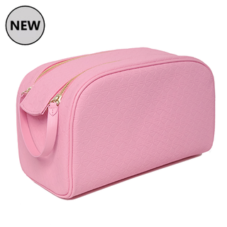 Shane X Jeffree Oversized Double Zip Makeup Bag - Pink