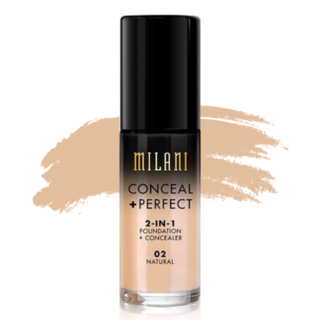 Milani Conceal + Perfect 2-in-1 Foundation - 02 Natural