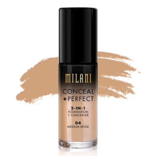 Milani Conceal + Perfect 2-in-1 Foundation - 04 Medium Beige