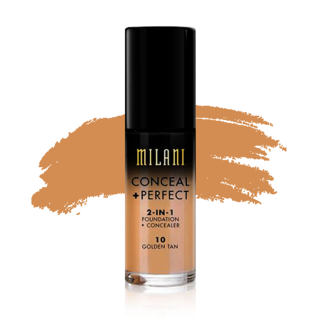 Milani Conceal + Perfect 2-in-1 Foundation - 10 Golden Tan