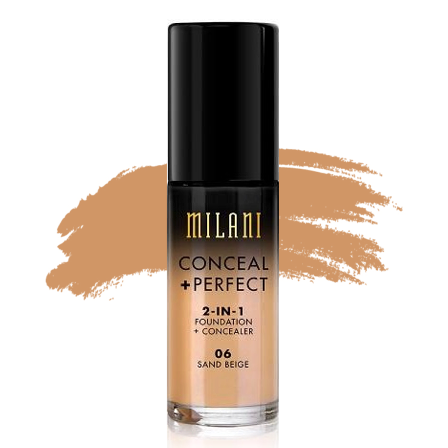 Milani Conceal + Perfect 2-in-1 Foundation - 06 Sand Beige